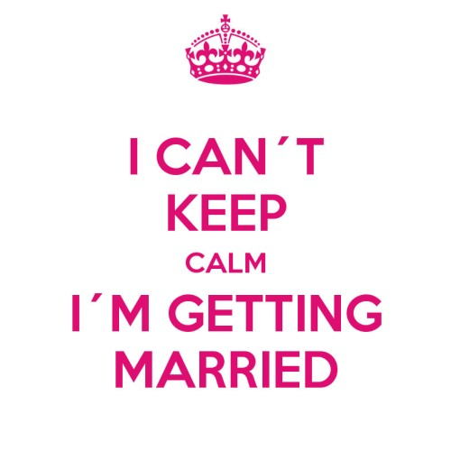 "Fantaboy I'm Getting Married General Quote Printed Poster (12""x18)"