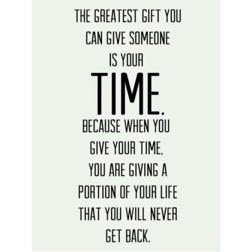 "Fantaboy Your Time, The Greatest Gift Quote Print Poster (12""x18"")"