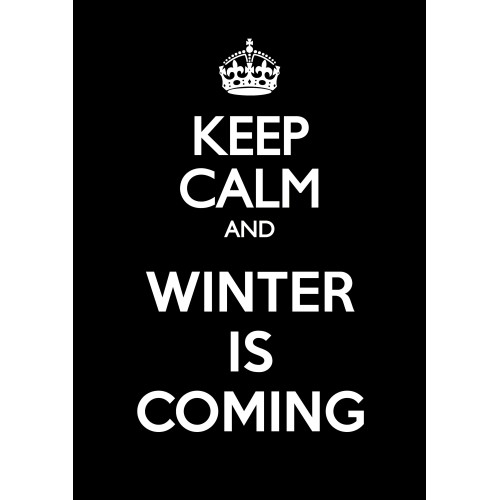 "Fantaboy Welcome Winter Quote Print Poster (12""x18"" )"