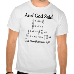 Fantaboy Cotton And God Said integral form of Maxwell's equations Printed T-Shirt