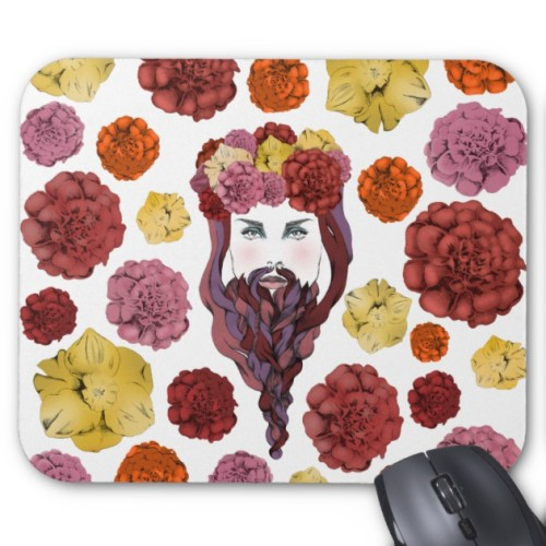 Fantaboy Arty Bearded Lady Mouse Pad