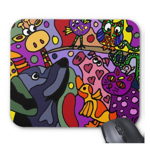 Fantaboy Awesome Abstract Animals Art Mouse Pad