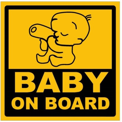 Fantaboy Baby on Board Sides Car Sticker