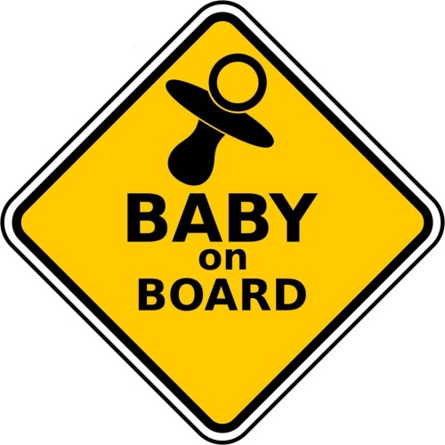 Fantaboy Baby On Board (New) Sides Car Sticker
