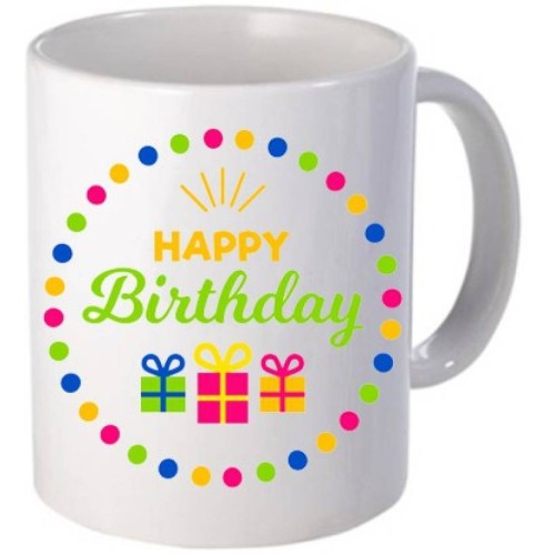 Fantaboy Happy Birthday Gift Boxes Printed Coffee Mug