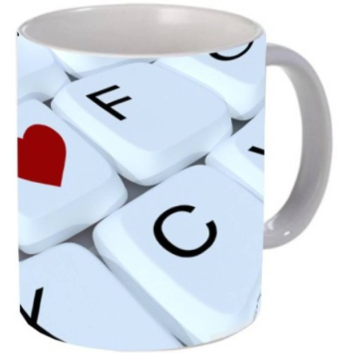 Fantaboy Love Sign Keyboard Coffee Mug