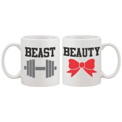 Fantaboy Beauty and Beast Matching Couple Mugs