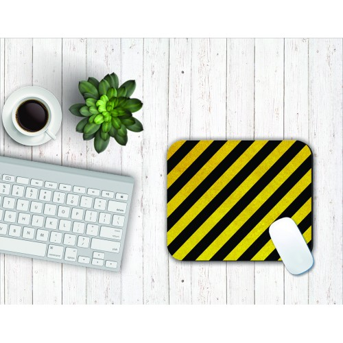 Fantaboy Black Yellow Stripe Mouse Pad