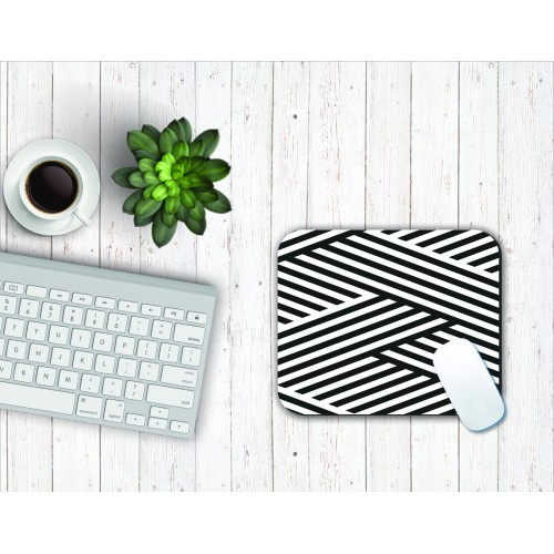 Fantaboy Cross Stripe Print Mouse Pad