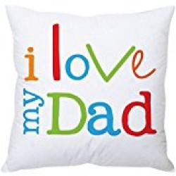 Fantaboy  I Love My Dad Quote Printed Cushion Cover
