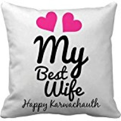 Fantaboy  Love My Wife Printed Cushion Cover