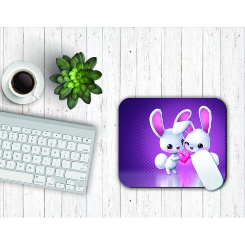 Fantaboy Cute Love Print Mouse Pad