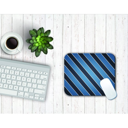 Fantaboy Blue Black Stripe Print Mouse Pad