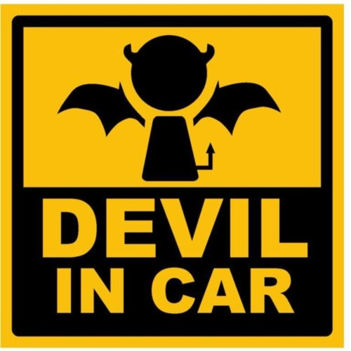 Fantaboy Devil In Car Sides Car Sticker