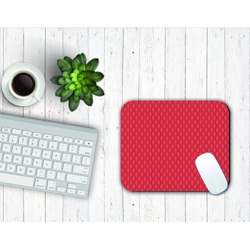 Fantaboy Ethnic Red Pattern Print Mouse Pad