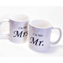 Fantaboy Her Mr. and His Mrs. Ceramic Mug