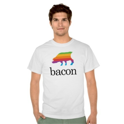 Fantaboy Bacon Apple Parody T-shirt