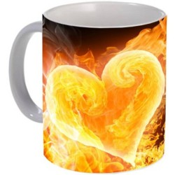 Fantaboy Fire In Heart Printed Coffee Mug