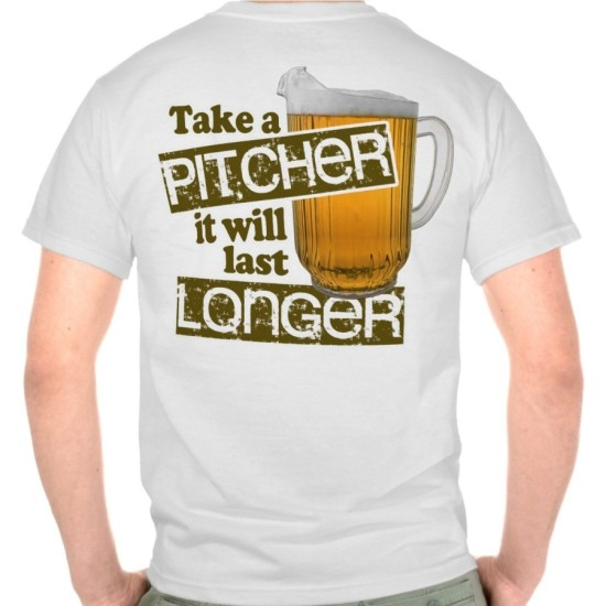 Funny Beer Drinking Humor Printed T-Shirt
