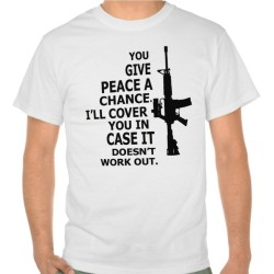 Fantaboy Give Peace A Chance Printed T-Shirt
