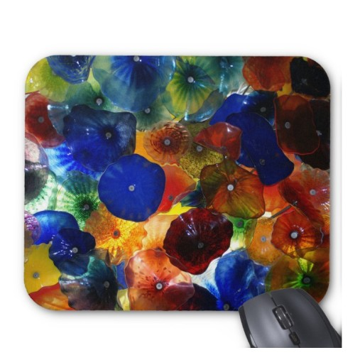 Fantaboy Glass Flowers Mouse Pad