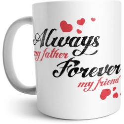 Fantaboy Forever Friend Mustache Dad Printed Coffee Mug