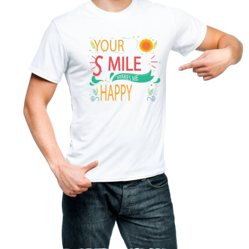 Fantaboy Your Smile Make me Happy Printed T-shirt