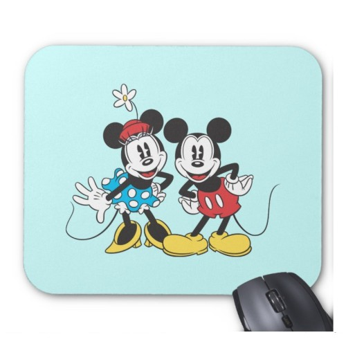 Fantaboy Mickey Minnie Classic Pair Mouse Pad