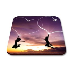 Fantaboy Sunset Heart Printed Mouse Pad