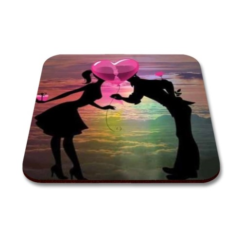 Fantaboy Cute Couple Printed Mouse Pad