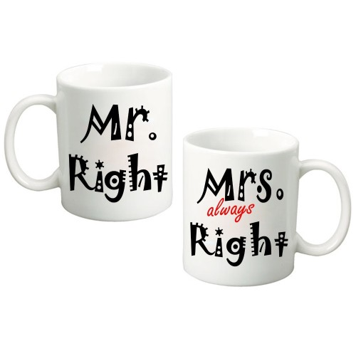 Fantaboy Mr. Right & Mrs. Always Right Ceramic Mug
