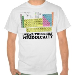 Fantaboy Men's Cotton Funny I wear this shirt periodically - periodic table Printed T-Shirt