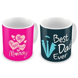 "Fantaboy  Best Anniversary  Gift  Combo Offer  ""Best Mom & Dad""Printed Coffee Mugs  For Your  Mother , For Your Father , For Your Mother-In-Law , For Your Father-In-Law on Anniversary,  AnySpecial Day"