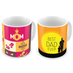 """Fantaboy  Best Anniversary  Gift  Combo Offer  """"World Best Mom & Dad""""Printed Coffee Mugs  For Your  Mother , For Your Father , For Your Mother-In-Law , For Your Father-In-Law on Anniversary,  AnySpecial Day"""