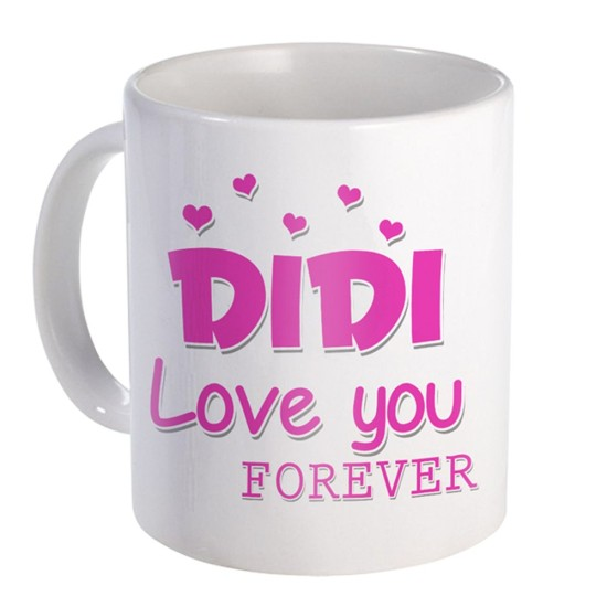 """Fantaboy  Birthday Gifts  With """"Didi Love You Forever""""  Printed  Coffee Mug  For Your Big And Small sister  on ,Brother, Anniversary, Any Special Day For showing Your Love"""