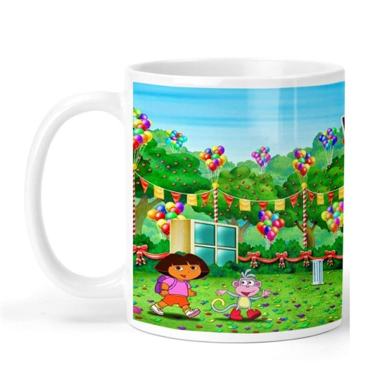 FantaBoy Cartoon Dora Printed  Coffee  Mug For your Daughter,Sister, Son,Brother  Or Your Loved Ones on Birthday Or Any Day Gifting