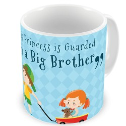 Fantaboy  Birthday Gifts  With Princess Carry By a Big Brother Printed  Coffee Mug  For Your Brother Sister , Brithday ,Anniversary, Any Special Day For showing your Love To Him or Her