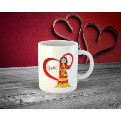 "FantaBoy Best Wedding Gifts with""Bride & Groom "" Cartoon Printed Beautiful Coffee Mug for Your Friend.Husband,Wife,Boyfriend,Girlfriend,Fiance,Finacee,Sister,Father,Mother,Brother,on Wedding , Anniversary,Birthday Or Any Special Day"