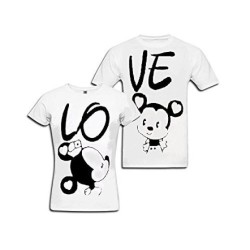"""FantaBoy Best Valentine Day Gift  """"LOVE"""" Letter Printed Couple White T-Shirt For Your Boyfriend,Girlfriend,Husband,Wife,Fiance,Fiancee on Valentine Day, Anniversary,Birthday Or Any Special Occasion"""