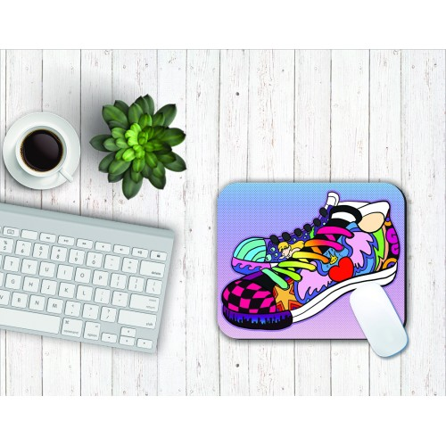 Fantaboy Shoe Art Print Mouse Pad