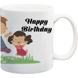 Fantaboy  Happy Birthday Being Sister And Brother Printed Coffee Mug