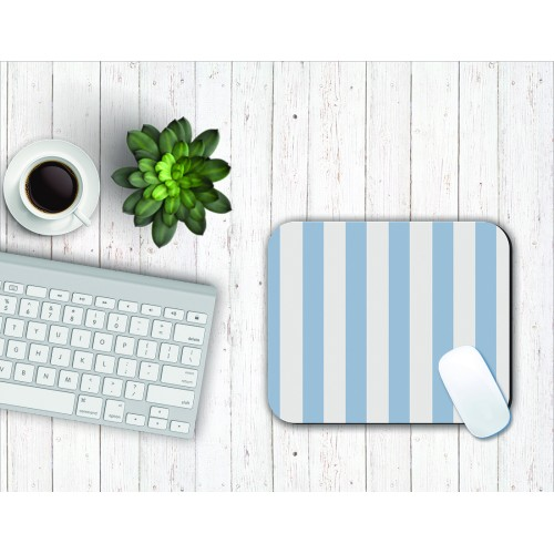Fantaboy Striped Blue Pattern Mouse Pad