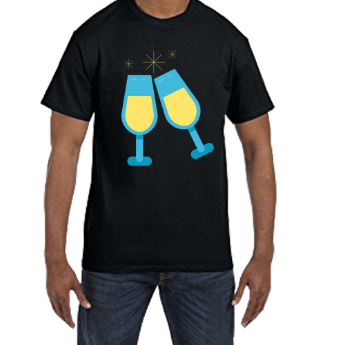 Fantaboy Beer Glass Printed T- shirt