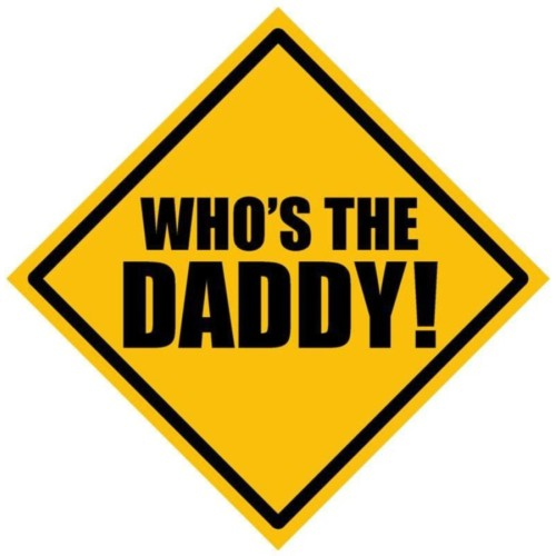 Fantaboy Who's The Daddy ! Sides Car Sticker