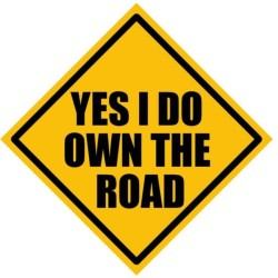 Fantaboy Yes I Do Own The Road Sides Car Sticker